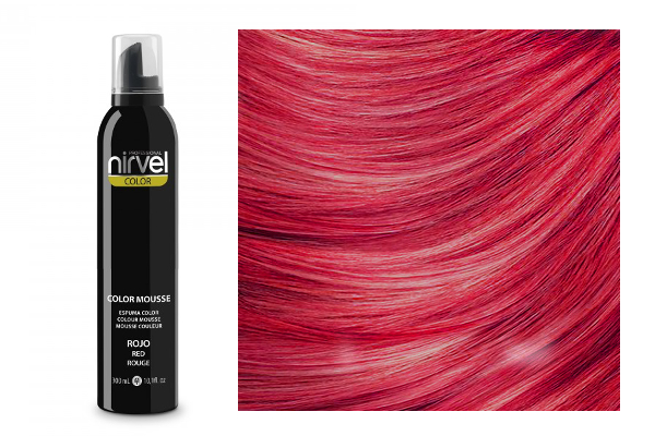 NIRVEL Color mousse – pena RED (červená)